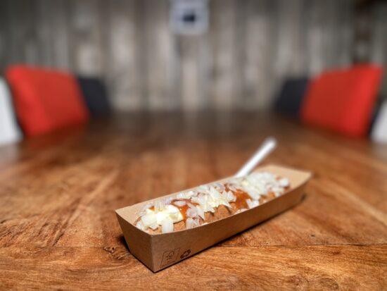 Snackbar Friettent Friet Menu Eten Terras Zeeland Snack Frikandel Frikandel speciaal