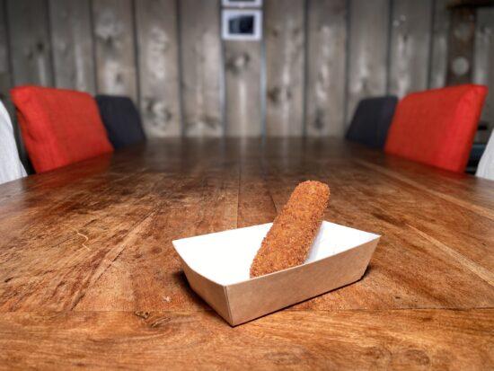 Snackbar Friettent Friet Menu Eten Terras Zeeland Snack Kroket Vleeskroket