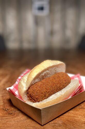 Snackbar Friettent Friet Menu Eten Terras Zeeland Snack Broodje Kroket