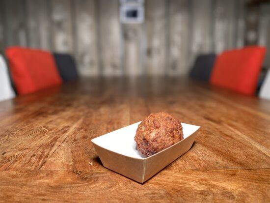 Snackbar Friettent Friet Menu Eten Terras Zeeland Snack Gehaktbal